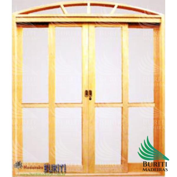 Portal de correr 4 Folhas em Arco vidro Panorâmico
